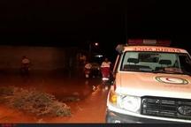 جاری شدن سیل بر اثر بارش شدید باران در شهرستان رامهرمز+ تصاویر