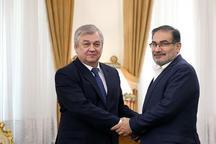 دیدار نماینده ویژه رییس جمهوری روسیه در امور سوریه با شمخانی