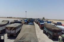 400 کامیون هندوانه در مرز مهران معطل اند  وزارت کشاورزی عراق اجازه ترحیص نمی دهد