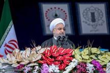 رییس جمهور روحانی: دنیا بداند قدرت جمهوری اسلامی به مراتب از روزهای جنگ و دفاع بیشتر است/ صندوق آراء تضمین حفظ این نظام است