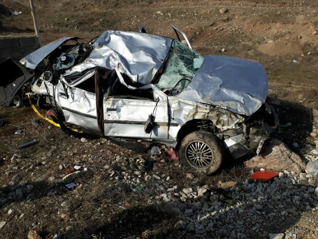 """سانحه جادهای در محور """"جلفا _خوی"""" با 1 کشته و 2 مصدوم"""