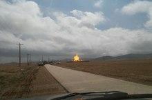 2 تن به علت انفجار ایستگاه فشار گاز همدان در آتش سوختند