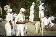 آیین غسل تعمید پیروان حضرت یحیی(ع) در اهواز + تصاویر