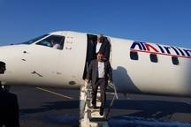 نخستین پرواز آزمایشی فرودگاه یاسوج با جت امبرائر 145انجام شد