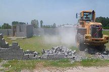 21 ساخت وساز غیرمجازدر اراضی کشاورزی فردیس تخریب شد