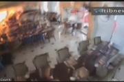 تصویر دوربین مداربسته از لحظه انفجار اخیر  هتل در سریلانکا