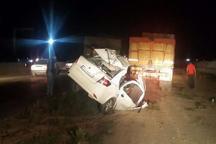 تصادف در محور قوچان یک کشته و 3 مصدوم بهجای گذاشت