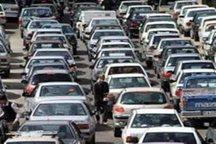 ترافیک سنگین در آزاد راه تهران - کرج - قزوین