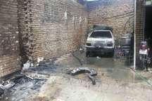 آتش سوزی یک واحد مسکونی در اندیمشک نجات جان 3 نفر از حادثه