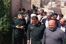فرمانده کل سپاه از مناطق زلزله زده مسجدسلیمان بازدید کرد