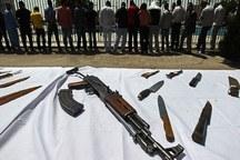 63 قبضه سلاح غیرمجاز در خوزستان کشف شد