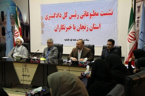 نمره پروندههای کار، کارگری و کارفرمایی استان 10 است  آستانه تحمل در استان زنجان پایین است