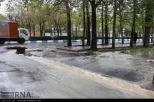 باران رگباری در مازندران باعث ابگرفتگی معابر شد