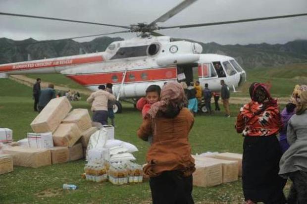 امداد رسانی به مردم 6 منطقه سخت گذر مراوه تپه