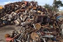 22 تن ضایعات آهن آلات در شهرستان اشکذر کشف شد