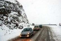 رانندگان با احتیاط در جاده لغزنده کرج - چالوس حرکت کنند