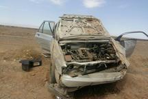 پنج نفر بر اثر واژگونی سواری پژوه  در جاده بادرود - اردستان مصدوم شدند