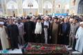 مراسم خاکسپاری پیکر مرحوم حاج سید علی صدر در قم
