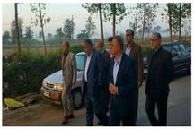 بازدید از اراضی آماده واگذاری به ایثارگران و خانوادههای معظم شهدا در رشت