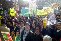 حضور عاشقانه اهل سنت مهاباد در راهپیمایی 22 بهمن