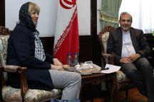 اشمید با دستیار ظریف در امور ویژه سیاسی دیدار کرد