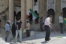 اقدام نمادین جوانان بصره در کنسولگری ایران