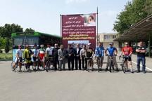 دوچرخه سواران الوندی عازم حرم مطهر شدند