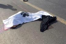 بی دقتی راننده کامیون موجب مرگ عابر پیاده در جاده الموت شد