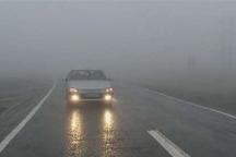 مه غلیظ موجب کاهش دید رانندگان در برخی جاده های زنجان شده است
