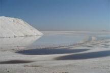 دریاچه نمک کانون گرد و غبار با ذرات نمکی می شود