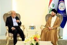 دیدار با سفیر ایران با عمار حکیم و صحبت در مورد تحریمهای آمریکا علیه ایران