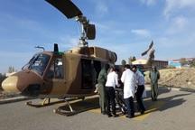 کارگر هشترودی قطع عضو شده با بالگرد به تبریز منتقل شد