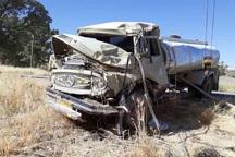 راننده خودوری سنگین واژگون شده در یاسوج نجات یافت
