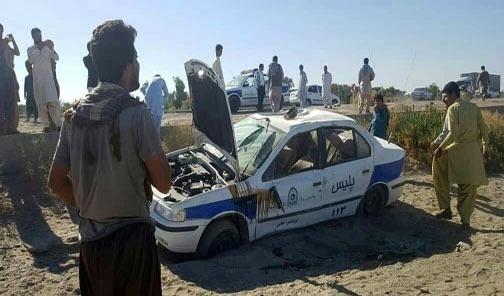 حمله اشرار مسلح به خودروی ماموران راهور در ایرانشهر