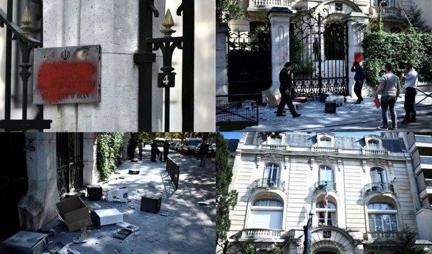 تعرض به سفارت ایران در پاریس+عکس