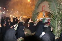 آیین شب وداع با شهید گمنام دفاع مقدس در رامسر برگزار شد
