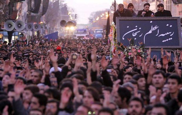 فریاد یا زینب یا زینب در فضای شهر زنجان طنین انداز میشود
