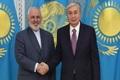 دیدار ظریف با رئیس جمهور قزاقستان