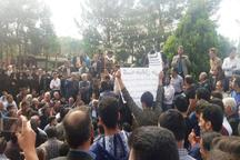 جمعی ازکشاورزان شرق اصفهان تجمع کردند