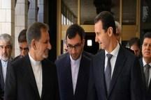 جهانگیری: پیام حضور ما پایان جنگ در سوریه است/ بشار اسد: سوریه خواهان همکاری متقابل با ایران برای توسعه اقتصادی است