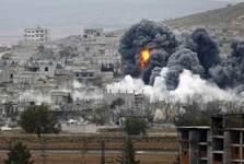 بمباران یکی از مراکز ارتش سوریه توسط هواپیماهای آمریکایی