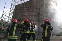 وقوع حریق سنگین در یک کارخانه قند در مشهد