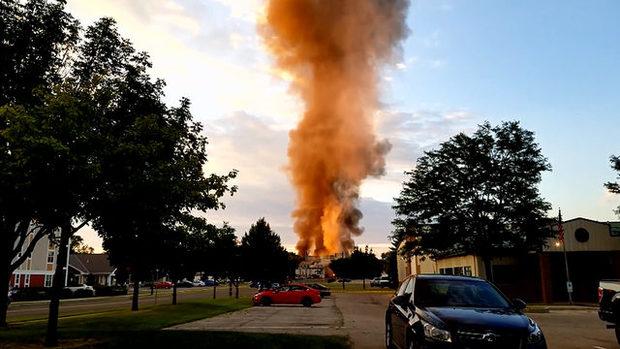 عکس/ انفجار در ایالت ویسکانسین آمریکا