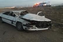 3کشته و 1 مجروح در واژگونی سواری پژو پارس درمحور بروجن - مبارکه