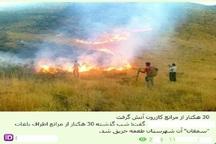 روایت 300 برابری خسارت آتش سوزی روستای کازرون