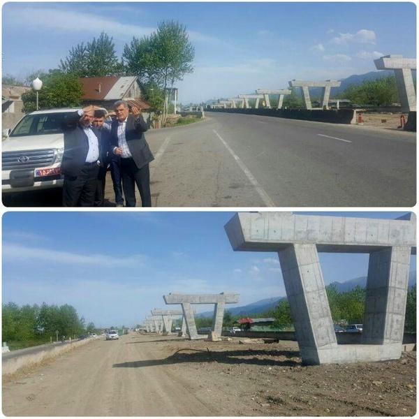 پیشرفت 50 درصدی پروژه تقاطع غیرهمسطح کلاچای - رحیم آباد در محور رشت – چابکسر