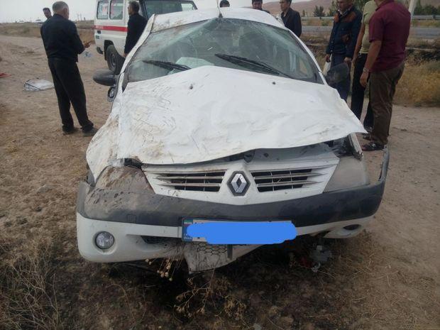 واژگونی خودرو در قوچان چهار مصدوم داشت
