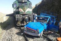 برخورد قطار باری با نیسان در لرستان یک کشته برجا گذاشت