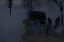 آشوب دوباره «جلیقه زردها» در پاریس/ پایتخت فرانسه صحنه جنگ و گریز معترضان و پلیس