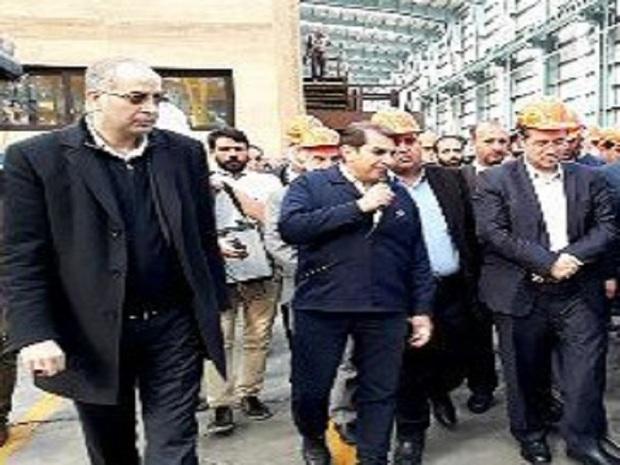 بازدید وزیر صنعت از طرح توسعه فولاد بافق یزد